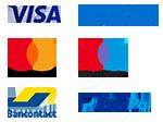Visa, Mastercard, Maestro, Bancontact, Paypal, American Express